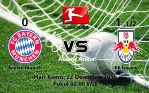 Prediksi Skor Bayern Munich vs RB Leipzig 22 Des 2016