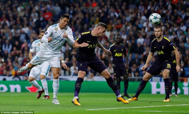 Hasil Akhir Pertandingan Real Madrid vs Tottenham : Skor 1-1