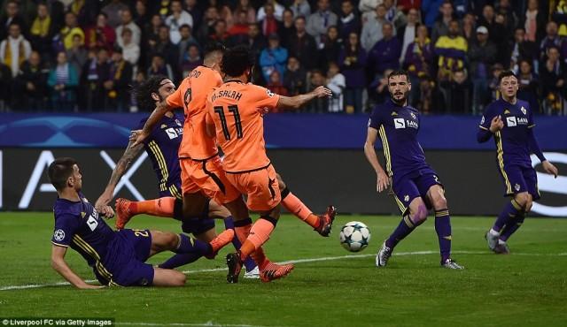 Hasil Akhir Pertandingan Maribor vs Liverpool : Skor 0-7